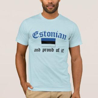 Estonio orgulloso playera