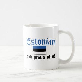 Estonio orgulloso taza
