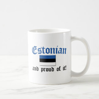 Estonio orgulloso taza de café