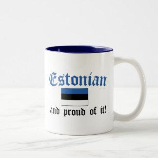 Estonio orgulloso taza de dos tonos