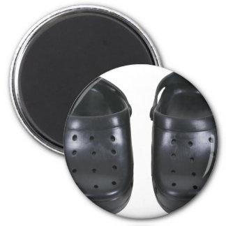 Estorbos negros del caucho imán redondo 5 cm