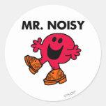 Estorbos que caminan grandes de Sr. Noisy el   Pegatina Redonda