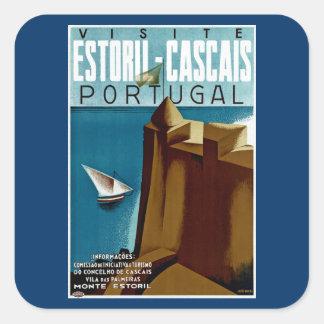 Estoril-Cascais in Portugal Square Sticker