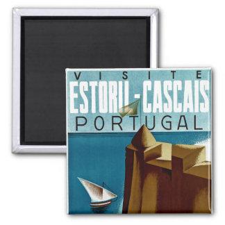 Estoril - Cascais Portugal 2 Inch Square Magnet