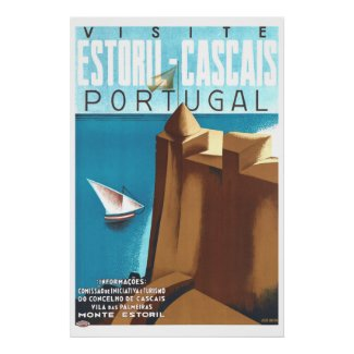 Estoril-Cascais Portugal Vintage Travel Poster
