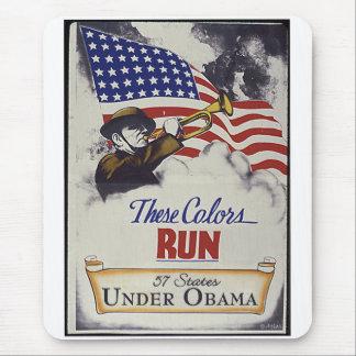 Estos colores corridos (Obama) Alfombrillas De Ratón