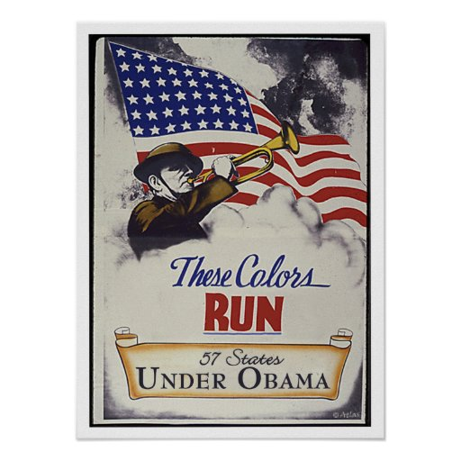 Estos colores corridos (Obama) Poster