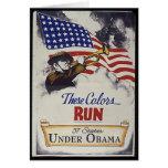 Estos colores corridos (Obama) Tarjeta De Felicitación