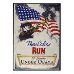 Estos colores corridos (Obama) Tarjetas De Visita Grandes