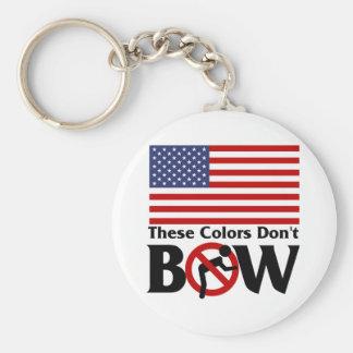 ¡Estos colores no arquean! Llavero Redondo Tipo Pin