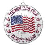 ¡Estos colores no corren! Bandera americana y estr Tablero De Dardos