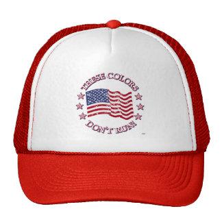 ¡Estos colores no corren! Bandera americana y estr Gorros Bordados