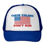 Estos colores no corren los E.E.U.U. Gorro De Camionero