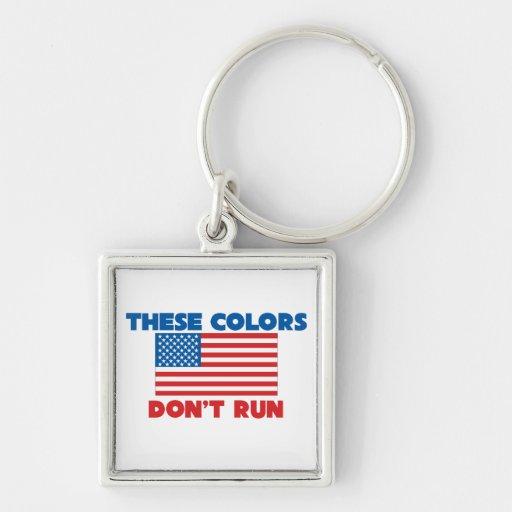 Estos colores no corren los E.E.U.U. Llavero