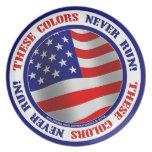 ¡Estos colores nunca corren! Placa Platos De Comidas