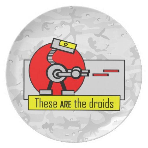Éstos SON los droids Plato