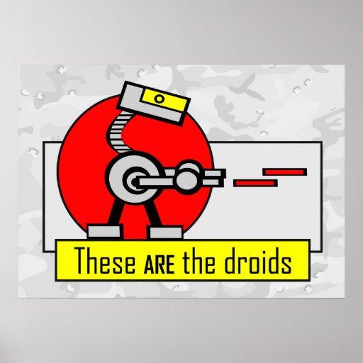 Éstos SON los droids Póster