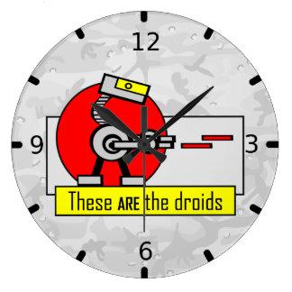 Éstos SON los droids Reloj Redondo Grande