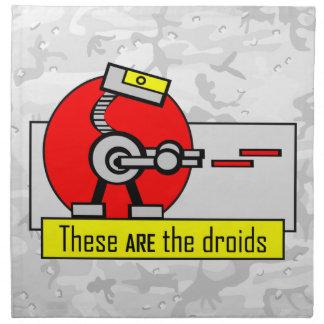 Éstos SON los droids Servilletas Imprimidas