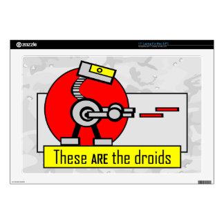 Éstos SON los droids Skins Para 43,2cm Portátiles