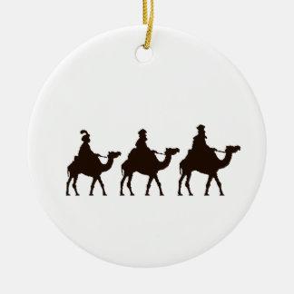 Estos tres reyes de Oriente son dibujo del navidad Adorno Navideño Redondo De Cerámica
