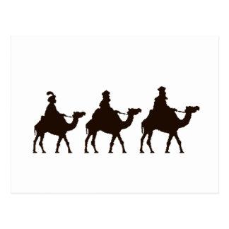 Estos tres reyes de Oriente son dibujo del navidad Tarjeta Postal
