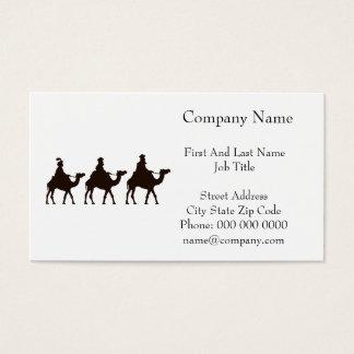 Estos tres reyes de Oriente son dibujo del navidad Tarjetas De Visita