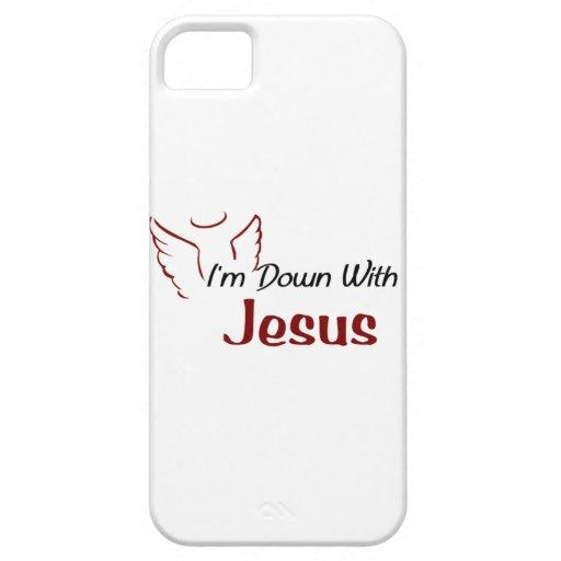 Estoy abajo con Jesús iPhone 5 Protector