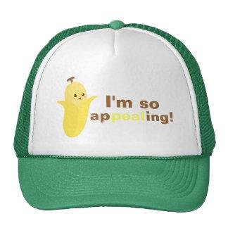 Estoy apelando tan con el plátano lindo y feliz gorra