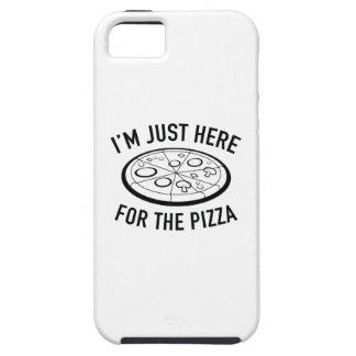 Estoy apenas aquí para la pizza iPhone 5 carcasa