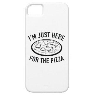 Estoy apenas aquí para la pizza iPhone 5 carcasas