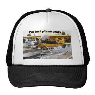 Estoy apenas loco plano: avión del flotador gorros bordados