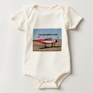Estoy apenas loco plano: Aviones de los yacs Body Para Bebé