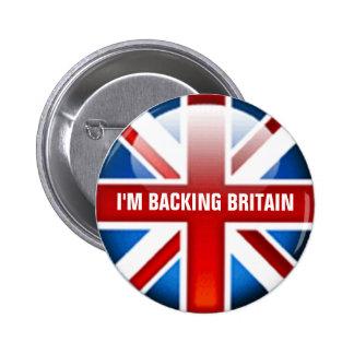 Estoy apoyando la insignia del botón de Gran Pin Redondo De 2 Pulgadas