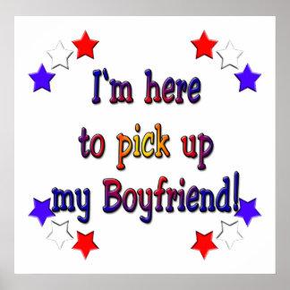 Estoy aquí coger a mi novio póster