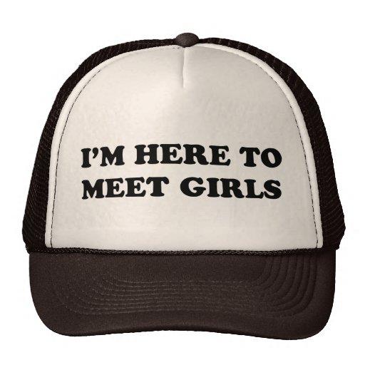 Estoy aquí encontrar a chicas gorras
