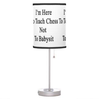 Estoy aquí enseñar a ajedrez a no cuid losar