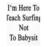 Estoy aquí enseñar a practicar surf a no cuid plantilla de membrete