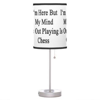 Estoy aquí pero mi mente está realizando ajedrez