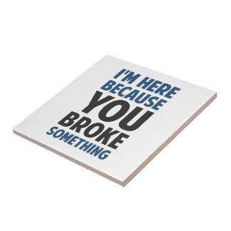 Estoy aquí porque usted rompió algo azulejo cuadrado pequeño
