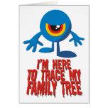 Estoy aquí remontar mi árbol de familia tarjetón