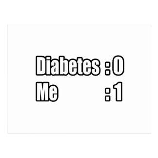 Estoy batiendo la diabetes (el marcador) tarjetas postales