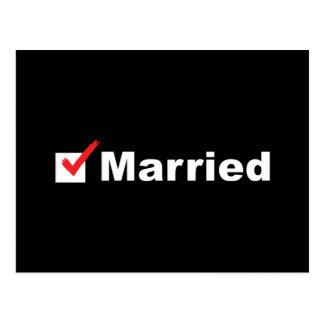 Estoy casado tarjetas postales