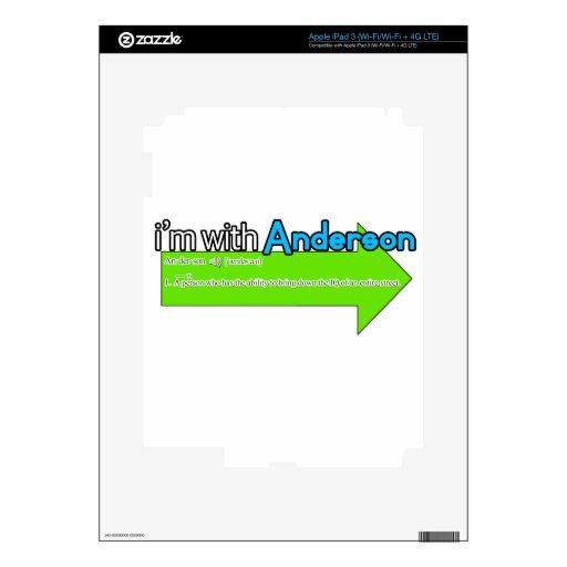 Estoy con Anderson iPad 3 Pegatinas Skins