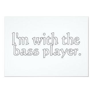 """Estoy con el bajista, regalo de la diversión para invitación 5"""" x 7"""""""