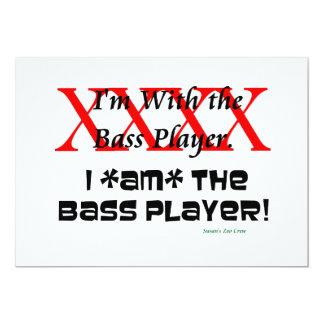 ¿Estoy con el bajista? SOY el bajista Invitación 12,7 X 17,8 Cm