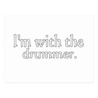 ¡Estoy con el batería grande para los fans y los Postales