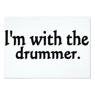 """Estoy con el batería invitación 5"""" x 7"""""""