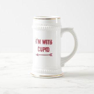 estoy con el cupid taza de café