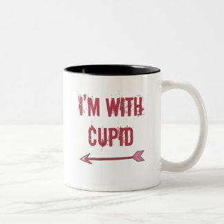 estoy con el cupid tazas